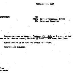 Announcements, 1965-02-11. ...