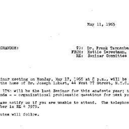 Announcements, 1965-05-11. ...