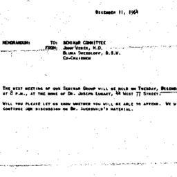 Announcements, 1964-12-11. ...