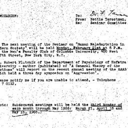 Announcements, 1966-01-31. ...