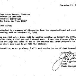 Correspondence, 1985-12-21....