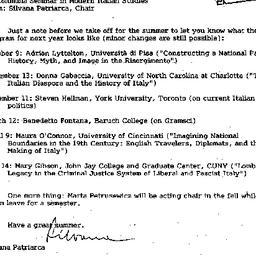 Announcements, 1999-05-20. ...