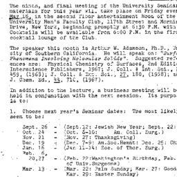 Announcements, 1969-05-12. ...