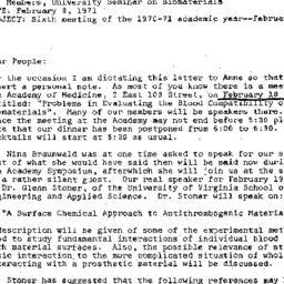Announcements, 1971-02-08. ...