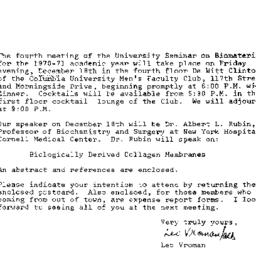 Announcements, 1970-12-03. ...