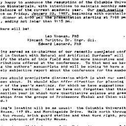 Announcements, 1987-01-13. ...