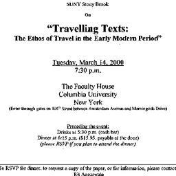 Announcements, 2000-03-14. ...