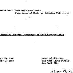 Announcements, 1968-11-18. ...