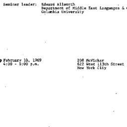 Announcements, 1968-02-10. ...
