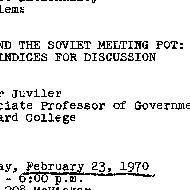 Announcements, 1970-02-23. ...