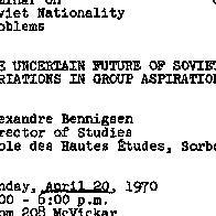 Announcements, 1970-04-20. ...