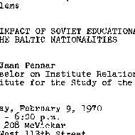 Announcements, 1970-02-09. ...