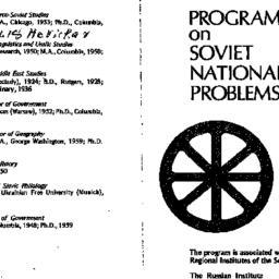 Handouts, Soviet Nationalit...