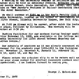 Announcements, 1968-10-21. ...