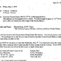 Announcements, 1999-04-23. ...