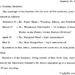 Announcements, 1971-01-30. ...