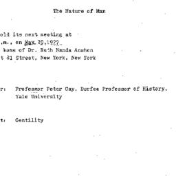 Announcements, 1977-05-20. ...