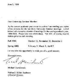 Announcements, 2000-06-02. ...