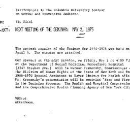 Announcements, 1975-04-15. ...