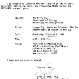Announcements, 1978-01-19. ...