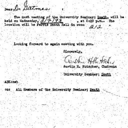 Announcements, 1973-01-30. ...