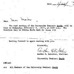 Announcements, 1974-01-24. ...