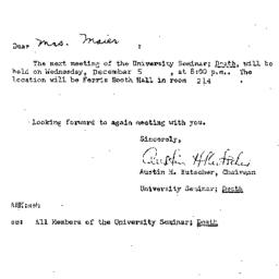Announcements, 1973-11-29. ...