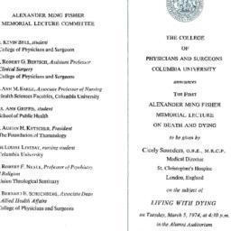Announcements, 1974-03-05. ...