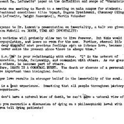 Minutes, 1974-11-13. Death,...