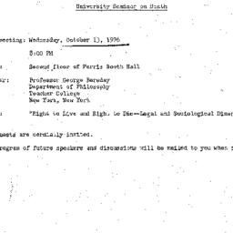 Announcements, 1976-10-13. ...