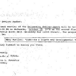 Announcements, 1978-10-18. ...