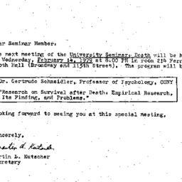 Announcements, 1979-02-14. ...