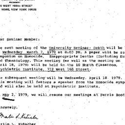Announcements, 1979-03-07. ...