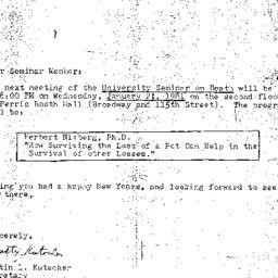 Announcements, 1981-01-21. ...