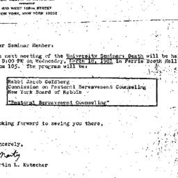 Announcements, 1981-03-18. ...