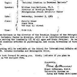 Announcements, 1981-11-24. ...