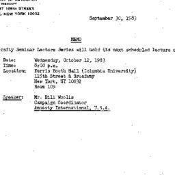 Announcements, 1982-09-30. ...