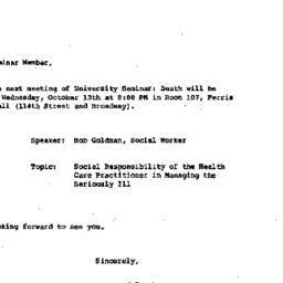 Announcements, 1982-10-01. ...