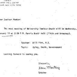 Announcements, 1983-01-19. ...