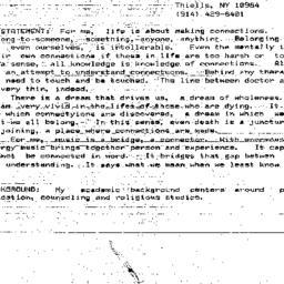 Handouts, 1984-12-11. Death...