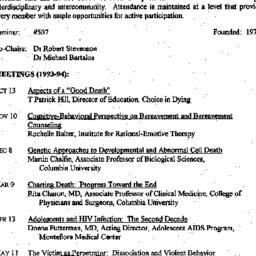Schedules, Death, seminar 5...