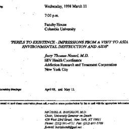 Announcements, 1998-03-11. ...