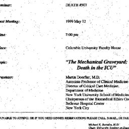 Announcements, 1999-05-12. ...