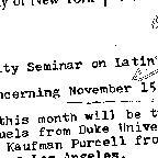 Announcements, 1973-11-15. ...