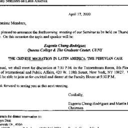 Announcements, 2000-05-04. ...