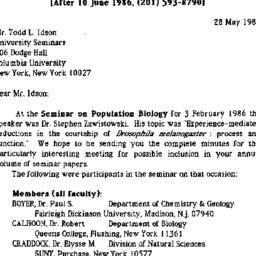 Correspondence, 1986-05-28....