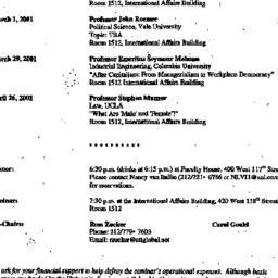 Announcements, 2001-02-01. ...