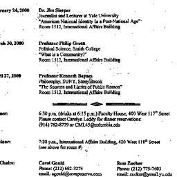 Announcements, 2000-01-27. ...