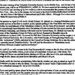 Announcements, 2001-04-25. ...