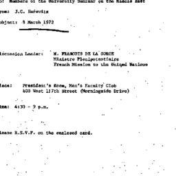 Announcements, 1972-02-16. ...